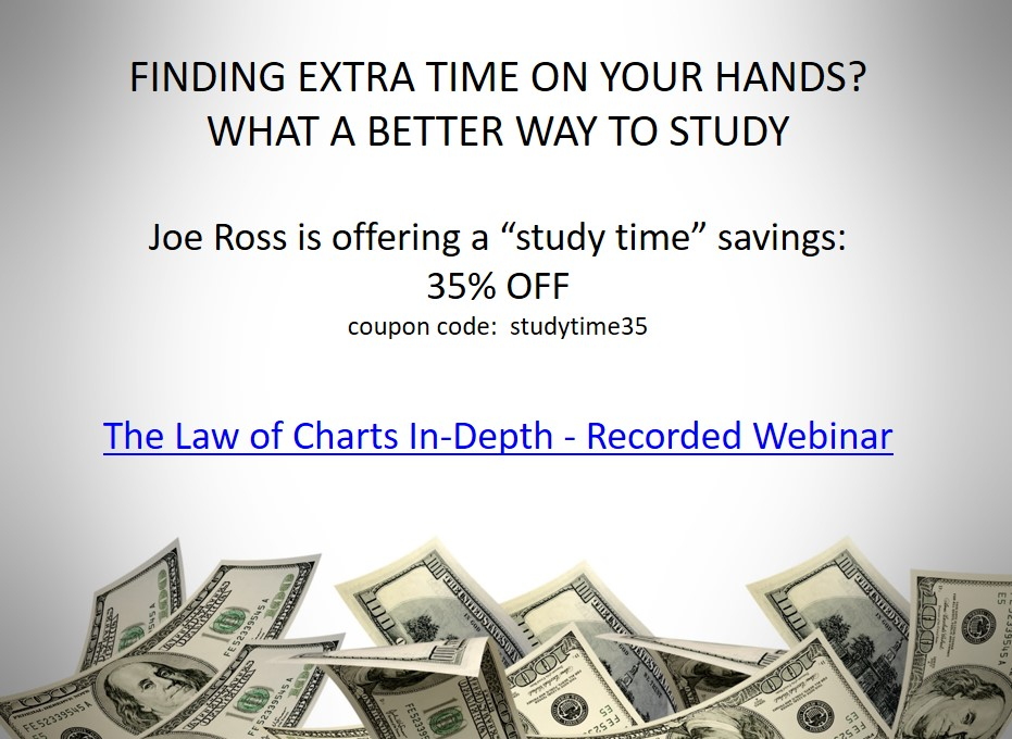Joe Ross is offering 35% off The Law of Charts Recorded Webinar
